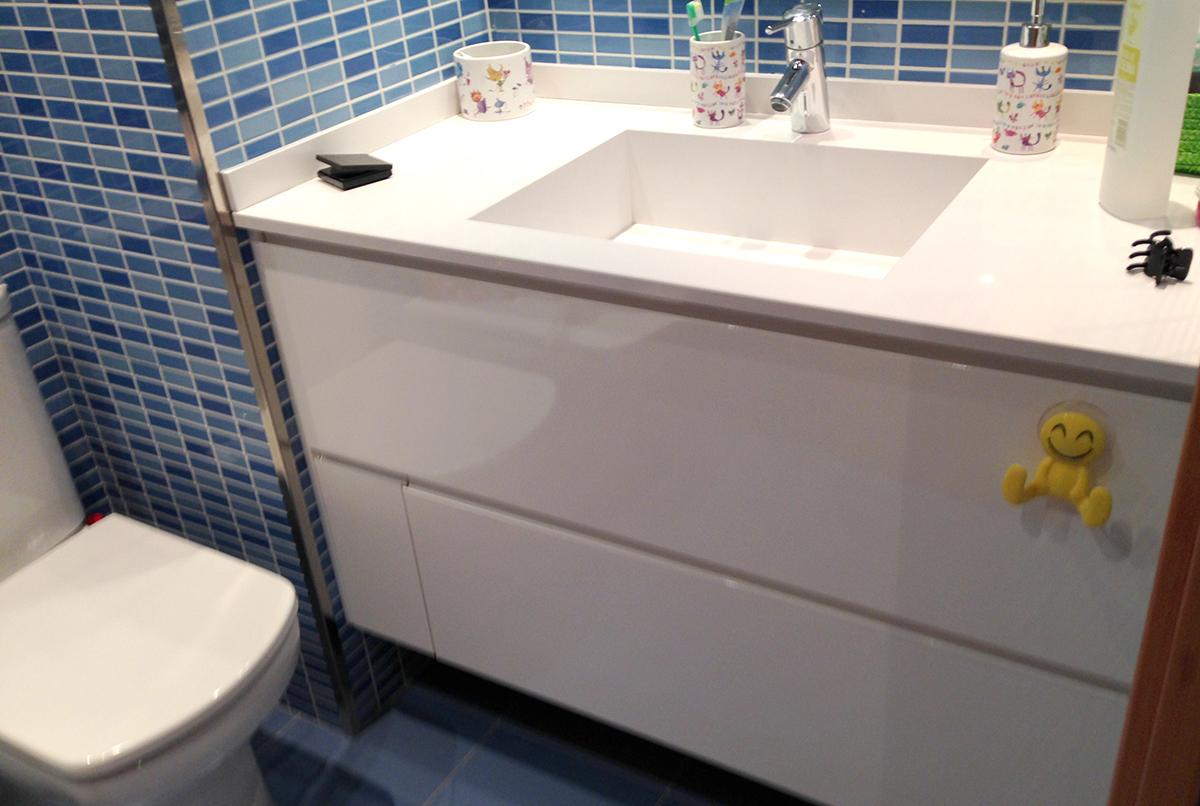 Mueble de ba o a medida de 2 cajones y una puerta mb concept for Muebles de bano a medida