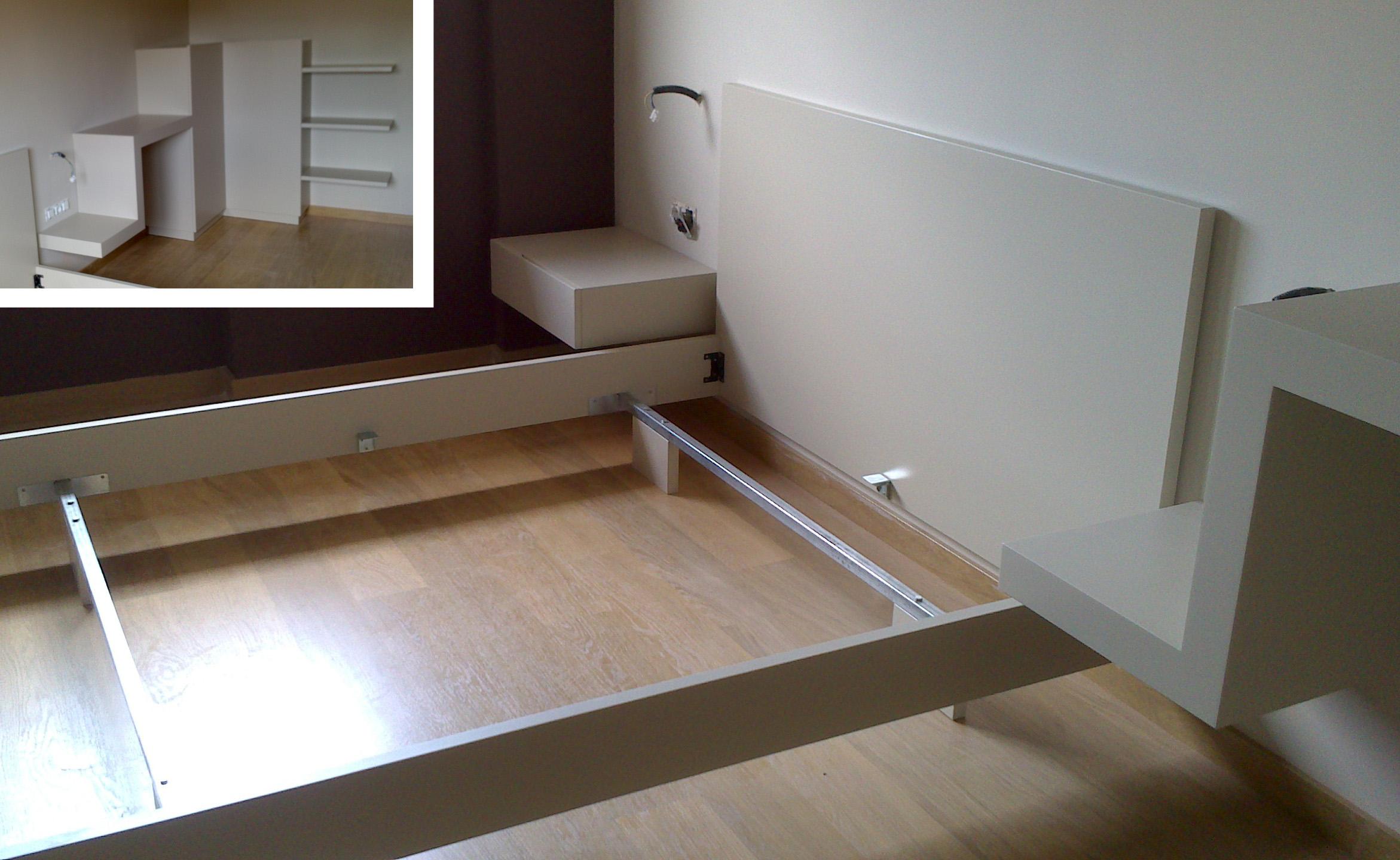 Dormitorio matrimonio a medida lacado color según muestras