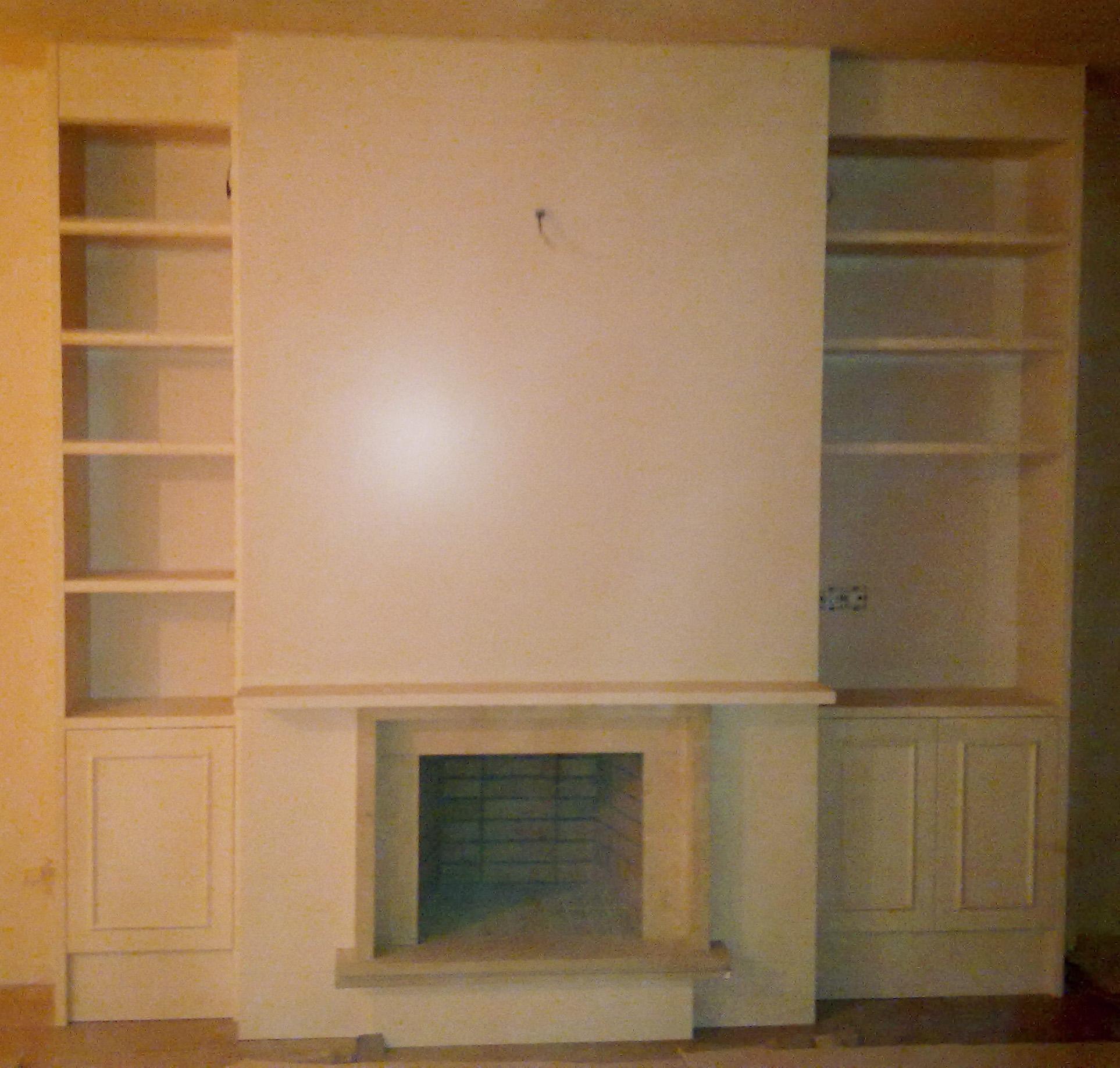 mueble-salón-comedor-a-medida-lacado-blanco-satinado.-puertas-con ...