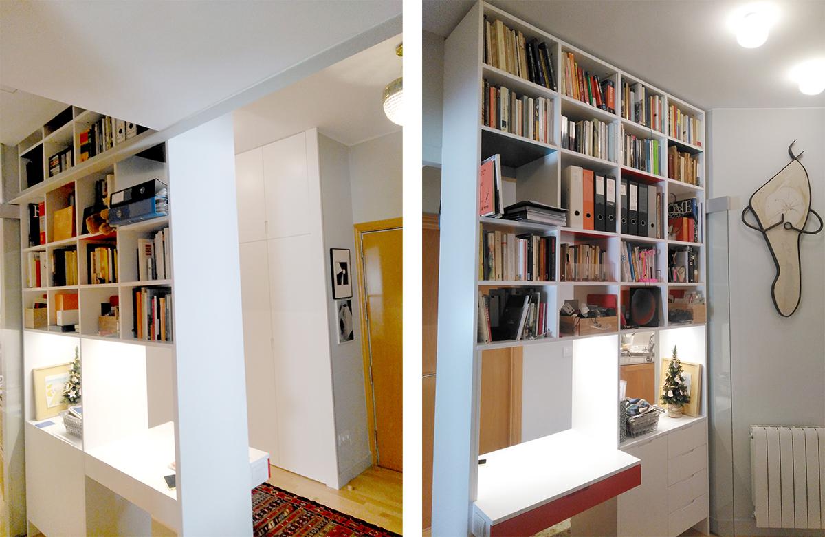 Librería separadora abierta a dos lados